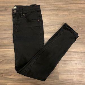 "JCREW 9"" High-rise Stretchy Toothpick Jeans SZ26"